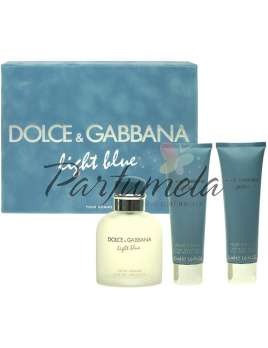 Dolce & Gabbana Light Blue Pour Homme, Edt 75 ml + 50ml balsam po holení + 50ml Sprchový gél